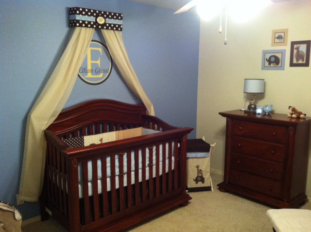Prince Boy CRIB Nursery Crown BED Canopy Padded Embroiderd Monogram canopy SALE & Prince Boy CRIB Nursery Crown BED Canopy Padded Embroiderd ...